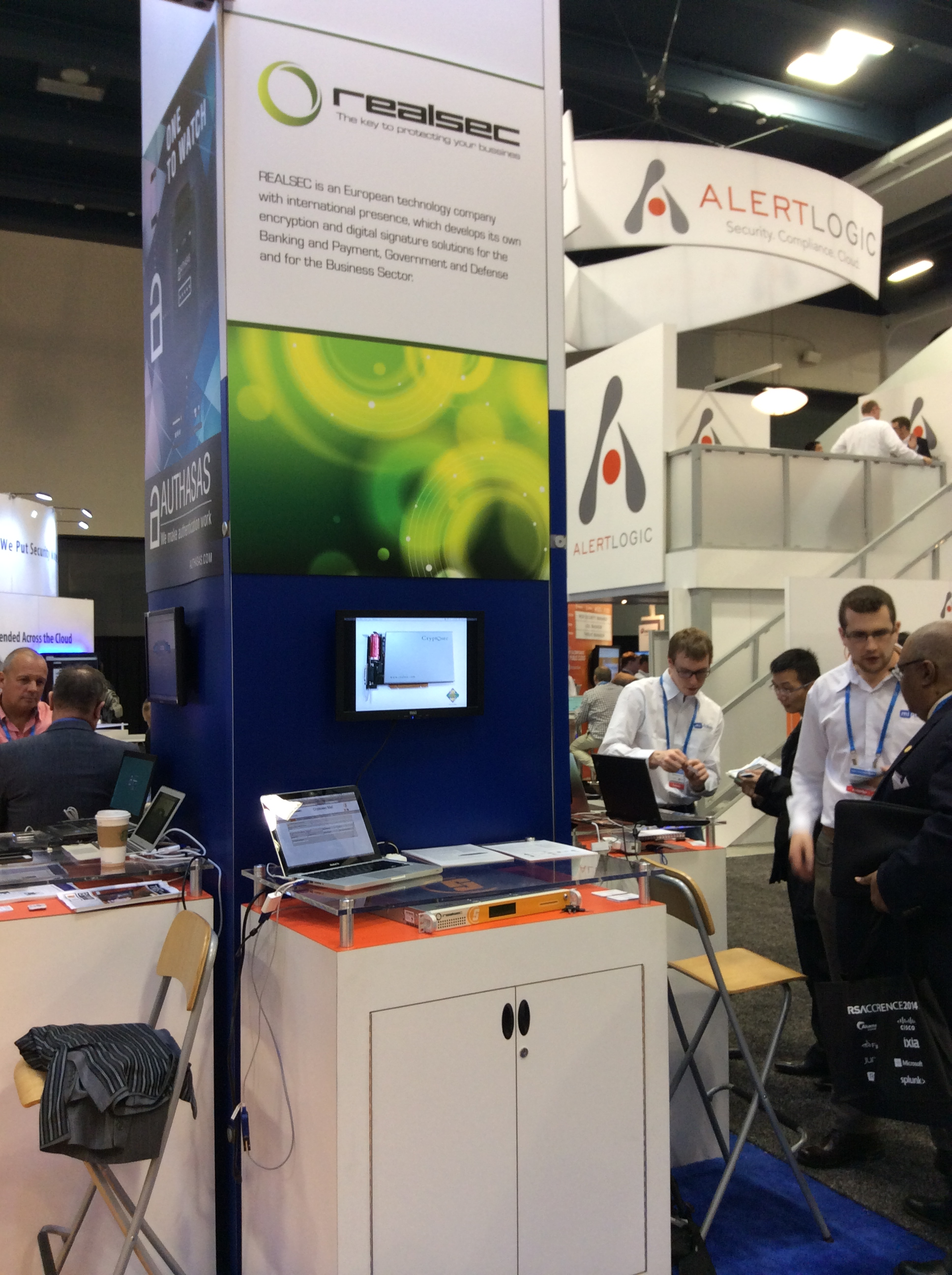 Realsec's stand at RSA Conference 2014