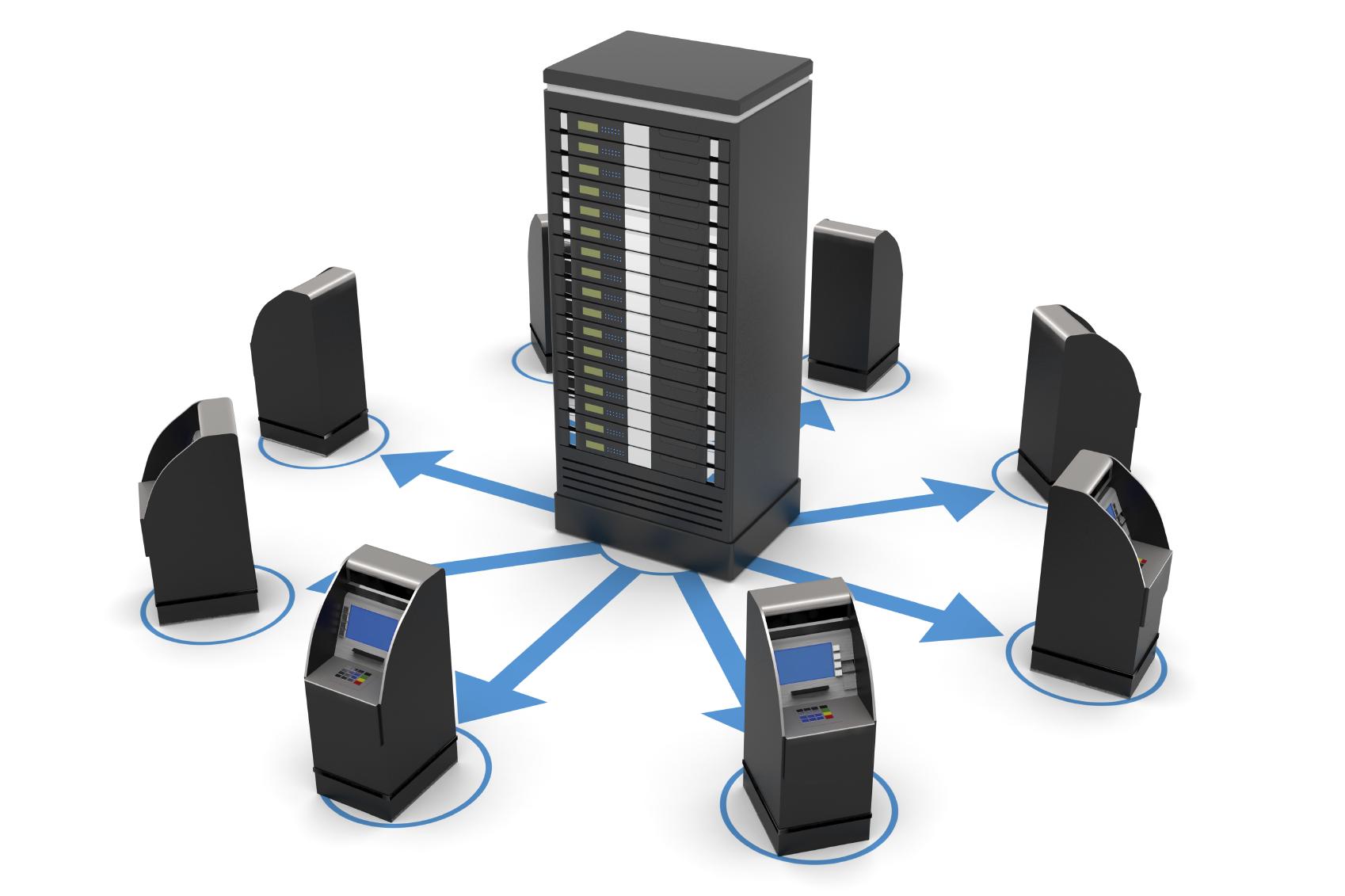 ATMs y servidor