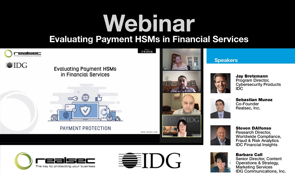 idc webinar evaluating payment hsm financial services